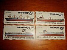 Singapore 1978 10th Anniv of Neptune Orient Shipping Lines (NOL), 4v set MNH