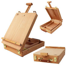 French Painters Portable Artist Durable Wooden Table Solid Top Box Easel Storage
