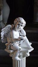 Engel Kantenhocker Grabengel Grabstein Grab Figur Skulptur Gartenfigur 70 F61