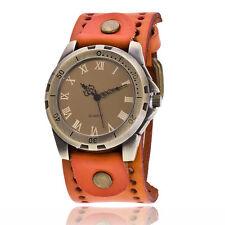 Retro Vintage Fashion Men Watch Leather Bracelet Wristwatch Women Watch