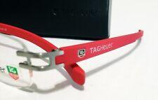 🔥TAG HEUER New Red Frame  Eyeglasses Rimless 🔸️TH3356 France