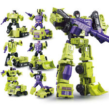 6pcs Set Transformers Engineering Devastator Robots Action Figure 26CM Toy