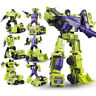 6pcs Set Transformers Engineering Devastator Robots Action Figure 26CM Toy