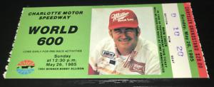 VINTAGE NASCAR CHARLOTTE 5/26 1985 WORLD 600 TICKET STUB DARRELL WALTRIP WIN