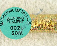Kreinik Blending Filament 002L Chromo Gold Holographic Metallic Thread 50M