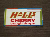 "VINTAGE MEDICINE 3 1/8"" X 1 5/8"" HALLS CHERRY COUGH DROPS TIN *EMPTY*"