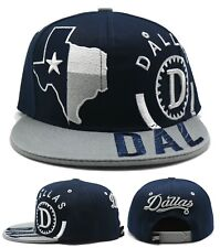 Dallas New Leader Monster State of Texas Flag Blue Gray Era Snapback Hat Cap