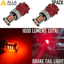 Alla Lighting 1600LM 30-LED 3157 Brake/Stop Tail Light Bulb Lamp Bright Pure Red