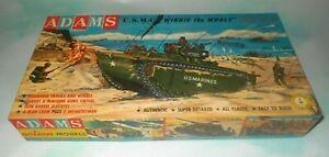 Vintage 1958 Adams U.S.M.C. Winnie the Whale L.V.T. Plastic Model Kit in Box