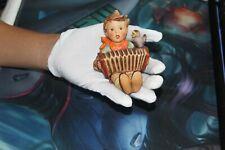"New ListingGoebel Hummel Figurine Vintage Tmk-2 Boy With Accordian & Bird ""Let'S Sing"""