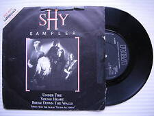 SHY - PROMO SAMPLER, Under Fire / YOUNG HEART / Break Down the Walls, shy-100 EX