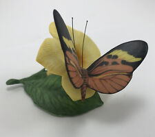 Franklin Mint Butterflies Of The World 1985 Glassy Wing and Golden Trumpet