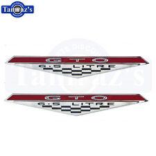 65-68 GTO 6.5 Litre Inner Door Panel Emblems PAIR New