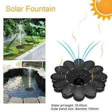 Sunflower Solar Power Water Pump Panel Kit Fountain Pool Garden Pond Submersible