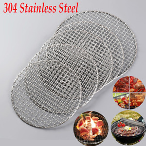 BBQ Stainless Steel Barbecue Round Grill Mesh Wire Net  Racks Grid Grate Picnic