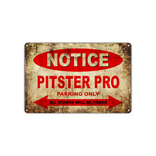 PITSTER PRO Motorcycles Parking Sign Vintage Retro Metal Art Shop Man Cave Bar