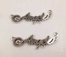 4pcs Tibetan Silver angel Charm Pendant Bead Jewellery Making 44*10mm