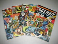 Sgt Fury #'s 110, 112, 115, 116 & 120.Marvel 1972.Vf-