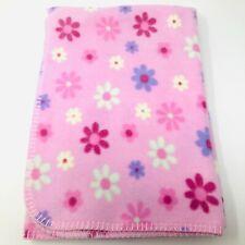 Circo Pink Flowers Baby Blanket Fleece Yellow Purple Stitch Edge Target Lovey