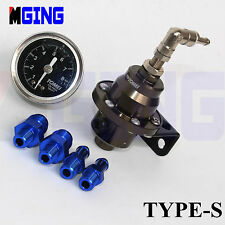 """'TOMEI""Type S Adjustable Fuel Pressure Regulator Fpr Universal Jdm Turbo No Fak"