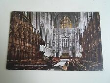 Vintage Postcard CHOIR EAST, WINCHESTER CATHEDRAL Franked 1929  §A1234