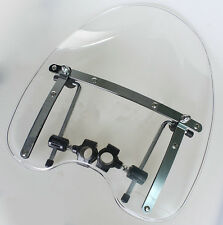 Harley Windshield Windscreen For Heritage Springer Dyna Glide Softail FX Clear