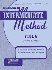 Rubank Intermediate Method Viola Intermediate Band Method New 004470290