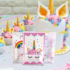 10PCS Unicorn Theme Party Gift Bag Plastic Candy Storage Festival Xmas Supplies