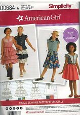 D0684 UNCUT Simplicity Sewing Pattern American Girl Brand Girls Dress 4 Outfits