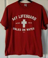 Christian Lifeguard unisex t-shirt size large