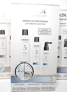 NIOXIN Hair System Kit Normal to thin-looking, 10.1 oz, 5.07 oz. 3.38 oz