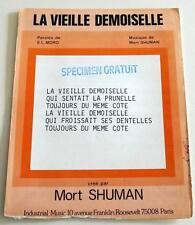 Partition vintage sheet music MORT SHUMAN : La Vieille Demoiselle * 70's MORO