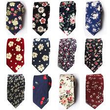 Mens Floral Paisley Cotton Skinny 6cm Necktie Party High Quality Tie HZ224