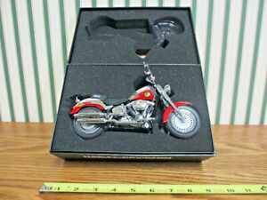 Harley-Davidson Red/White Pierce NFFF 2009 FLSTF Fat Boy By DCP 1/12th Scale