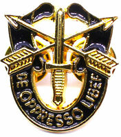 SPECIAL FORCES CREST SF Hat Pin DE OPPRESSO LIBER GOLDEN 1 INCH