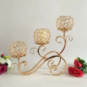 Candle Crystal Arms Holders Table Holder Candelabra Candlestick Silver Gold New