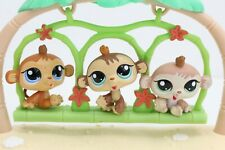 Littlest Pet Shop LPS #1551 1552 1553 Baby PETRIPLETS Monkey Triplets Lot Bundle