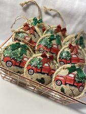 red truck christmas ornaments