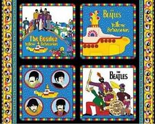 RARE BEATLES FABRIC Panel-Yellow Submarine All you Need is Love Cotton Quilt-OOP