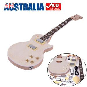 LP Electric Guitar DIY Kit Mahogany Body Rosewood Fingerboard Free Ship Gift