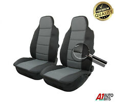 Pair Front Padded Premium Grey Fabric Car Seat Covers For Toyota Corolla Avensis