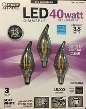 NEW Feit Electric CFC Chandelier LED Dimmable 40 Watt Replacement- 3 Pack