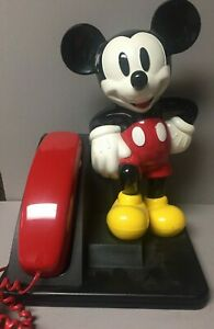 Vintage Disney Mickey Mouse Corded Land Line Touch Tone Telephone-1996