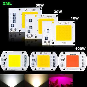 Led chip 10W 30W 50W 100W 220V de Entrada Inteligente IC Controlador blanco COB