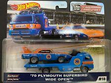 Hot Wheels Plymouth Superbird 70 and Wide Open Team Transport FLF56-956G 1/64