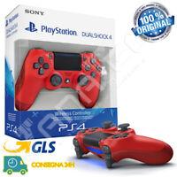 CONTROLLER SONY WIRELESS PS4 DUALSHOCK 4 PLAYSTATION 4 JOYSTICK V2 JOYPAD ROSSO