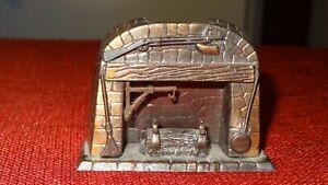 Dollhouse Miniature Furniture - Metal Fireplace - 1976 Durham Industries No. 30