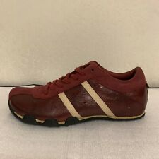 Diesel Evelyn Sneakers Shoes Women 8.5 8 1/2  Leather Suede Red Burgundy Rare 39