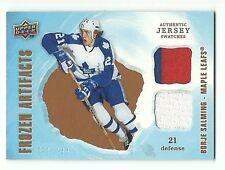Borje Salming 2008-09 Artifacts Frozen Artifacts Dual Jersey Card 161/199