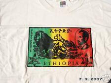 RASTA REGGAE DREAD IRIE ETHIOPIAN STAMP TSHIRT MEDIUM